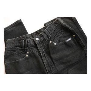 Vtg Authentic Rockies Jeanswear Black Denim